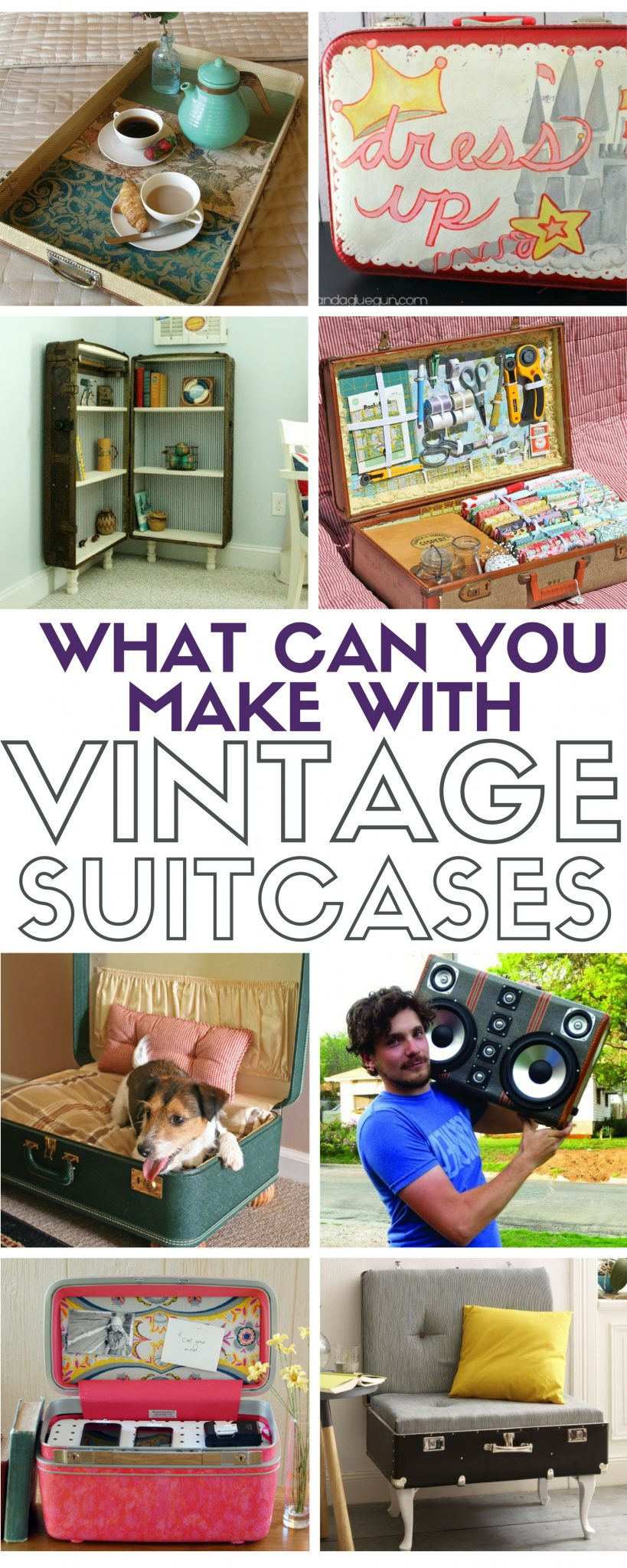 Turn a thrift store suitcase into the best decor for your t