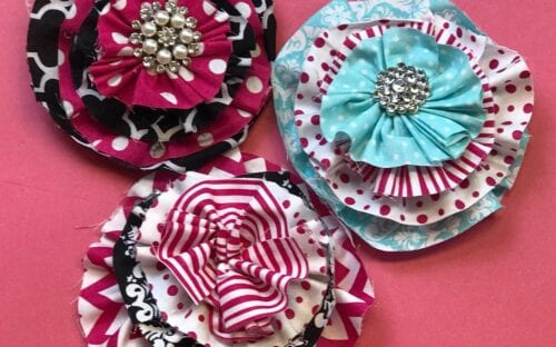Layered Fabric Flowers