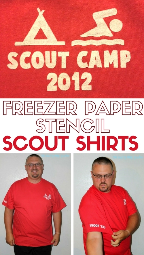 Freezer Paper Stencil | Silhouette | Fabric Paint | DIY Scout Camp Shirts | Craft Tutorial