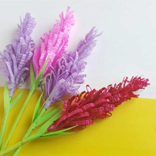 Paper Lavender Flowers