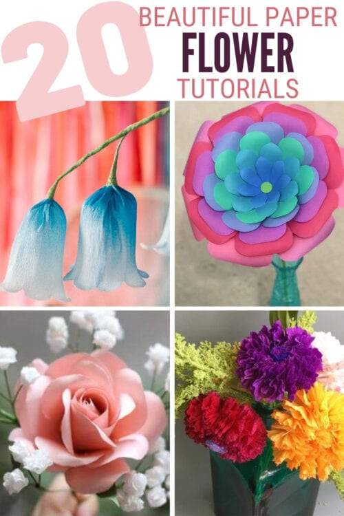 title image for 20 Beautiful Paper Flower Tutorials