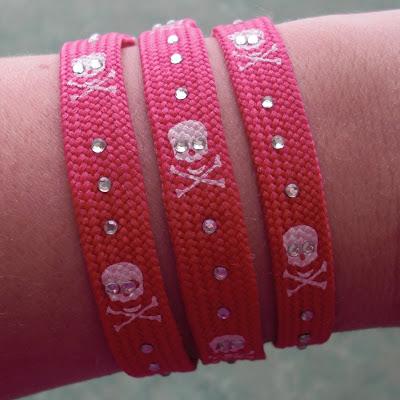 Rhinestone Bracelets from Shoelaces!