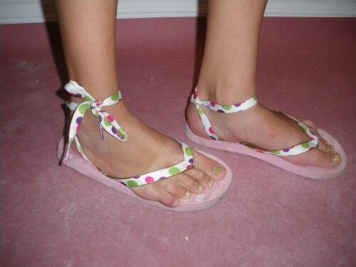 Shoe Lace Flip Flops