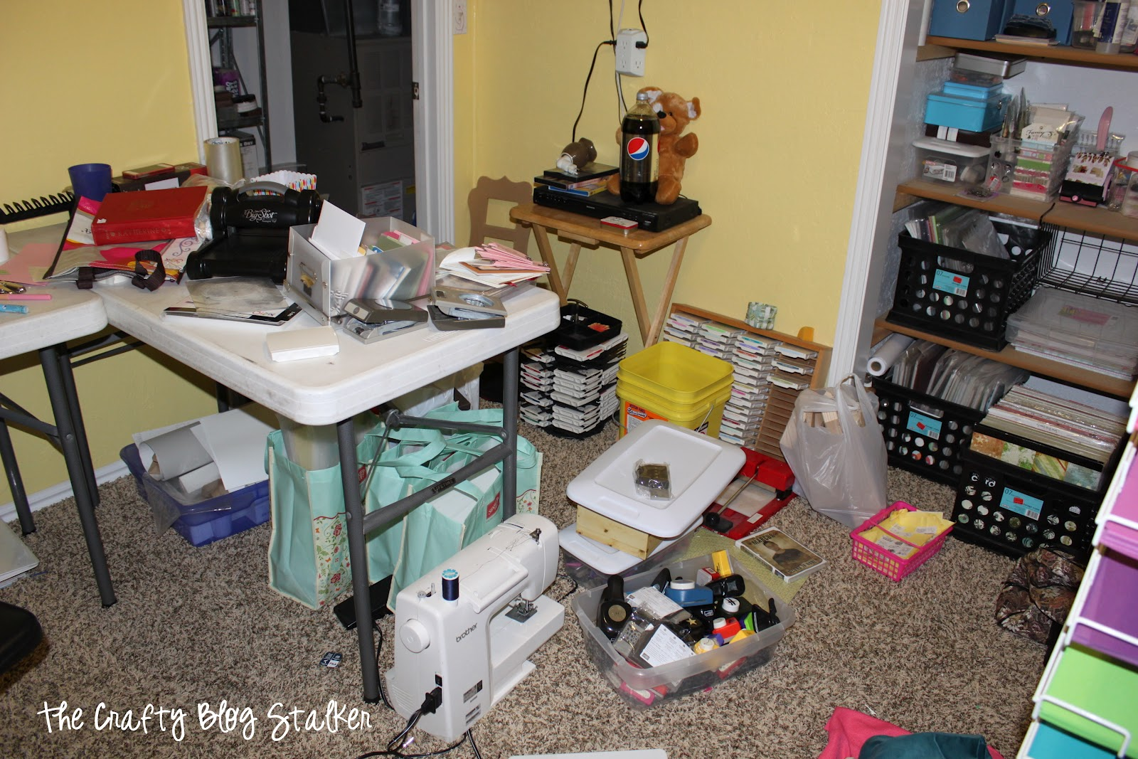 Take a tour as I clean up my Craft Room and share some DIY Storage Solutions and how I organize my crafting supplies. Simple DIY craft tutorial ideas.