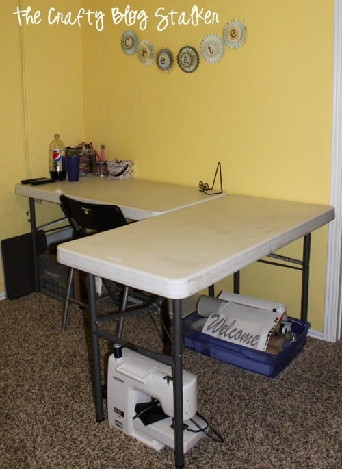 How to make a custom craft table the crafty blog stalker for Building a craft room