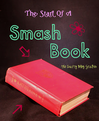 A smash book is a new trendy way to do your memory keeping. I'm using an old vintage book as the start of my smash book. Start a smash book of your own!