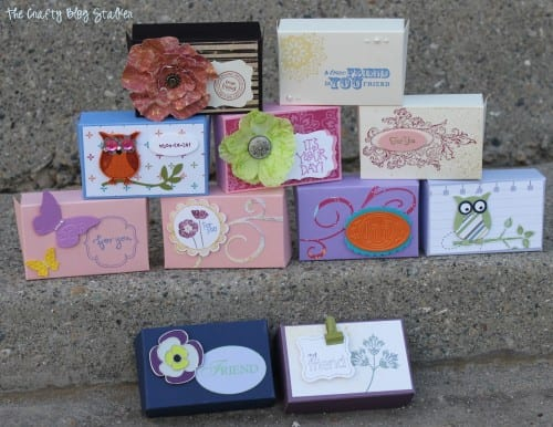 11 finished gift card boxes