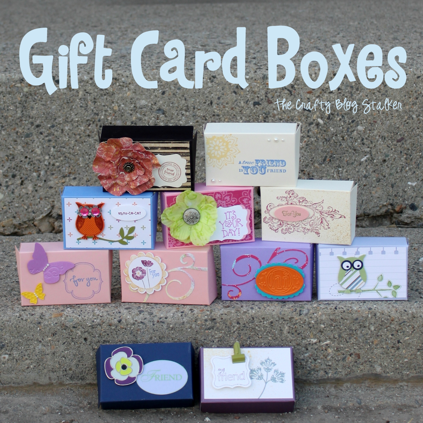 Learn how to make a gift card box. A simple DIY craft tutorial idea that fits a gift card perfectly and will make gift giving easy and personalized.