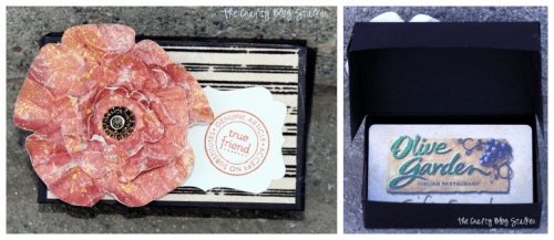 gift card box with an olive garden gift card inside
