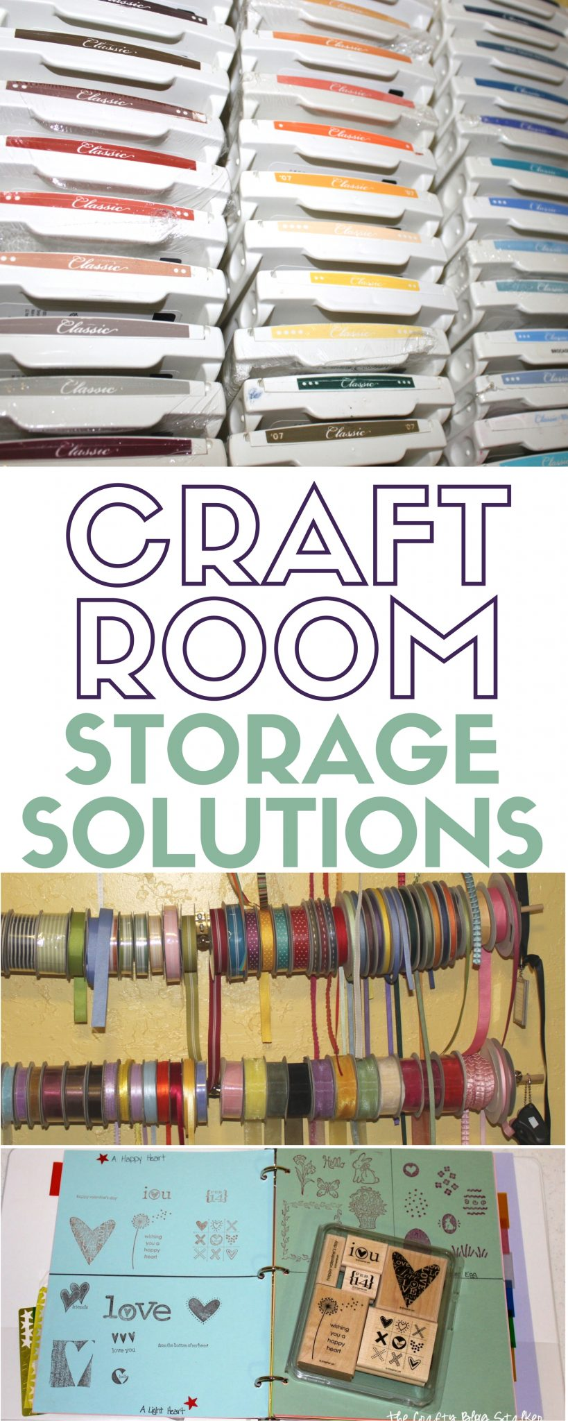 Storage Solutions | Craft Room | Organization Ideas | Clean and Tidy | Organized