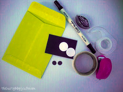 supplies used to make frankenstein goodie bags