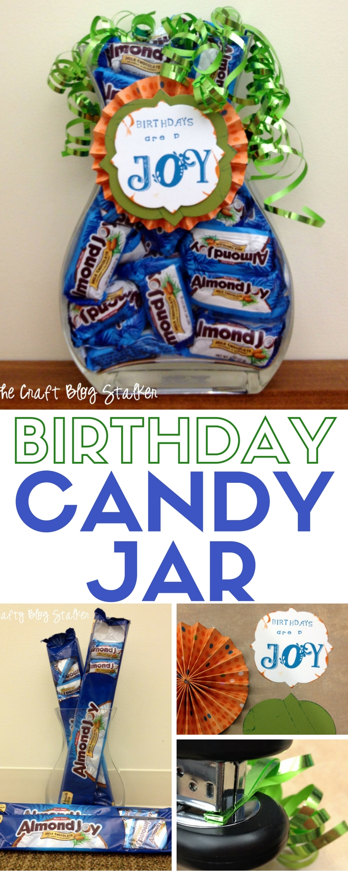 Surprise someone you love with a Birthday Candy Jar on their special day. An easy DIY craft tutorial idea for a handmade gift they will love!