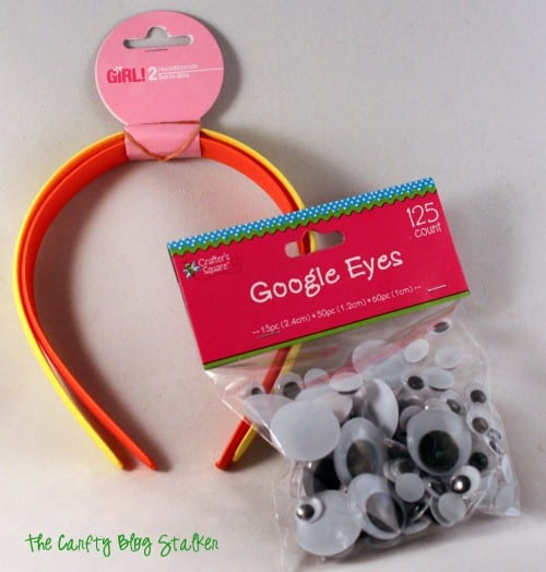 How to Make Googly Eyes Headbands, a tutorial featured by top US craft blog, The Crafty Blog Stalker.