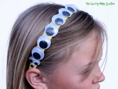 How to make Googly Eye Headbands perfect for crazy hair days and Halloween! A simple DIY craft tutorial idea to make and fun to wear.