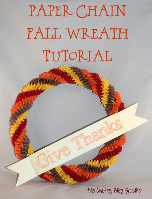 How to Make a Paper Chain Fall Wreath Tutorial | Easy DIY Craft Tutorial Idea | Autumn | Paper Crafts | Silhouette| Handmade | Home Decor