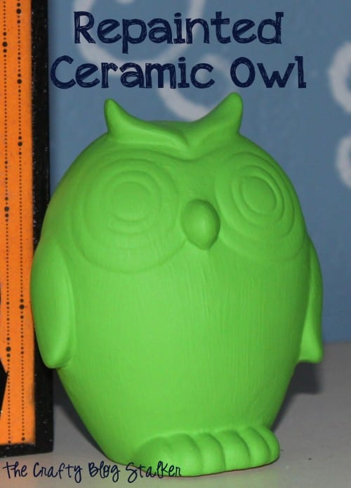 25 Easy Dollar Store Craft Ideas for Adults featured by top US craft blog, The Crafty Blog Stalker: repainted ceramic owl
