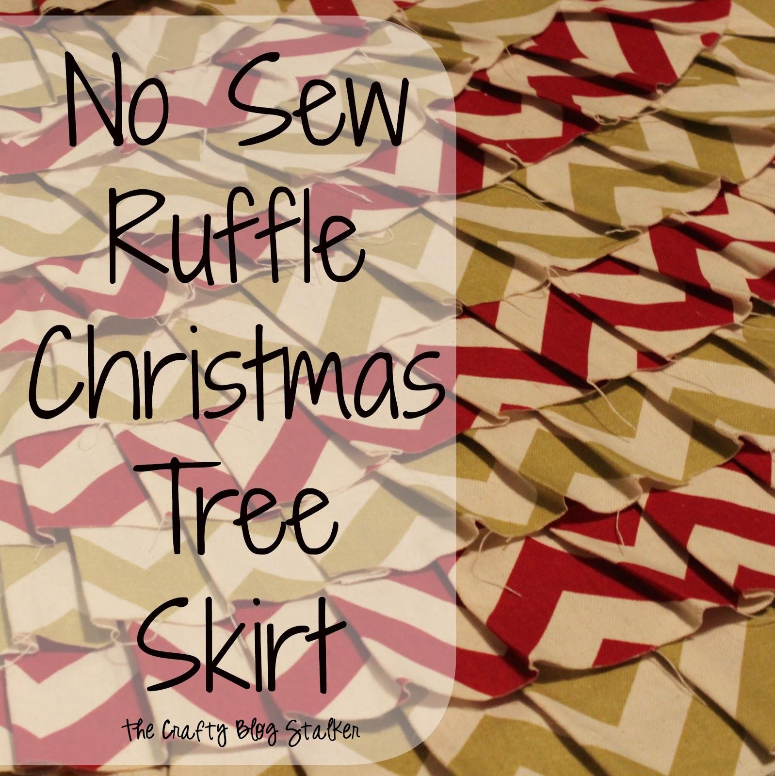 No Sew Ruffle Christmas Tree Skirt - The Crafty Blog Stalker