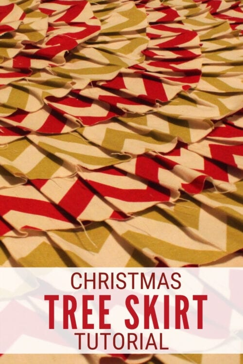 title image for How to Make an Easy Christmas Tree Skirt