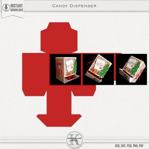 the Etsy image for the candy dispenser box