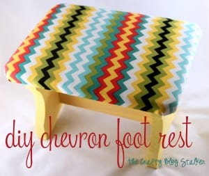 How to DIY a Chevron Foot Rest