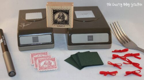 image of supplies used to make Snowglobe Christmas Ornament