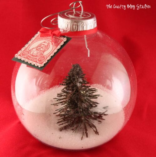 image of finished Snow Globe Christmas Ornament with a tree inside