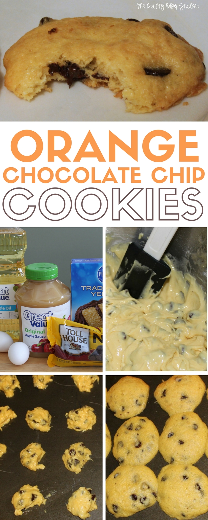 Orange Chocolate Chip Cake Batter cookies are a delicious variation of the tradition chocolate chip cookie. An Easy DIY recipe tutorial idea.