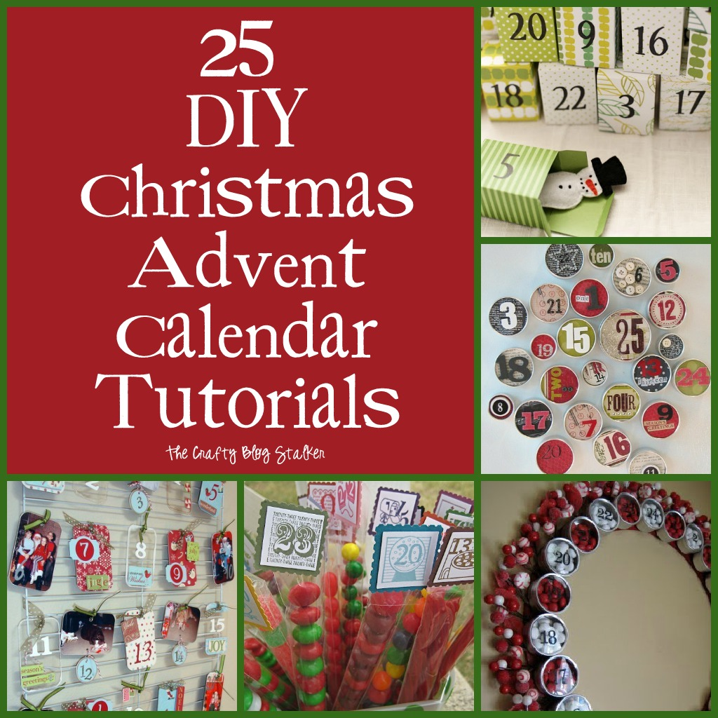 Advent Calendar Ideas Christmas : Diy christmas advent calendar tutorials the crafty