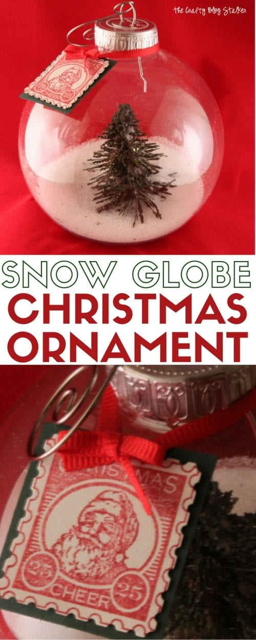 How to make a beautiful Christmas Tree Snow Globe Ornament. An easy DIY craft tutorial idea for a keepsake ornament that you can enjoy every year!