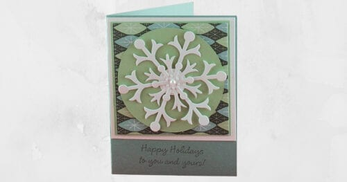 snowflake christmas card 2