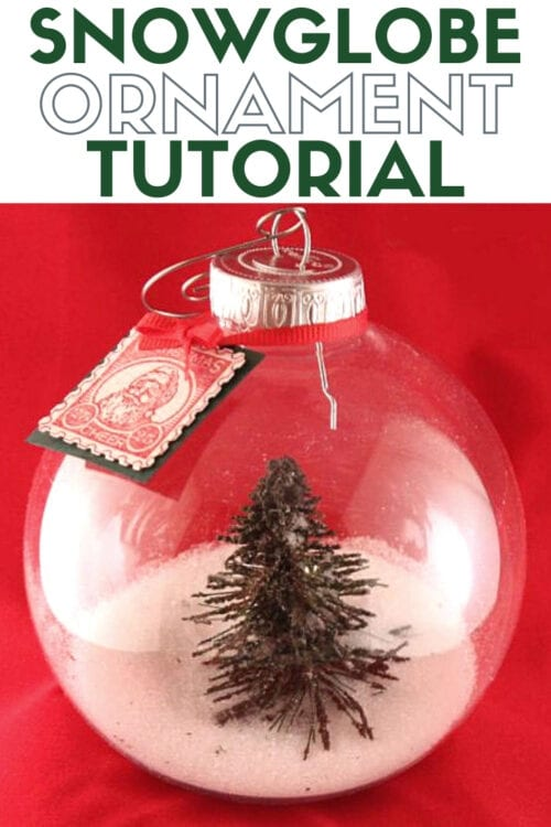 title image for How to Make a Snowglobe Christmas Ornament
