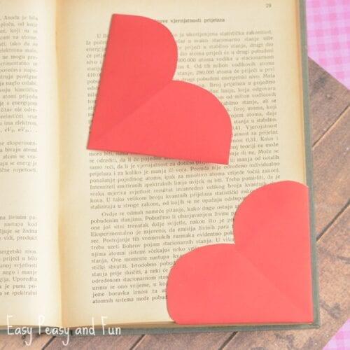 Herz Ecke Lesezeichen Papier Handwerk