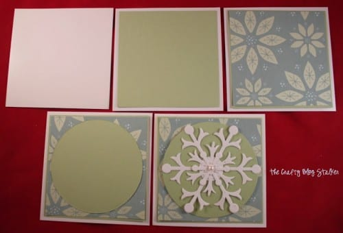 How to Make a Snowflake Christmas Card, a tutorial featured by top US craft blog, The Crafty Blog Stalker.