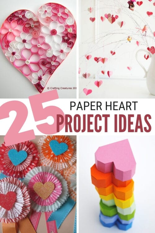 title image for 25 Easy Paper Heart Crafts Ideas