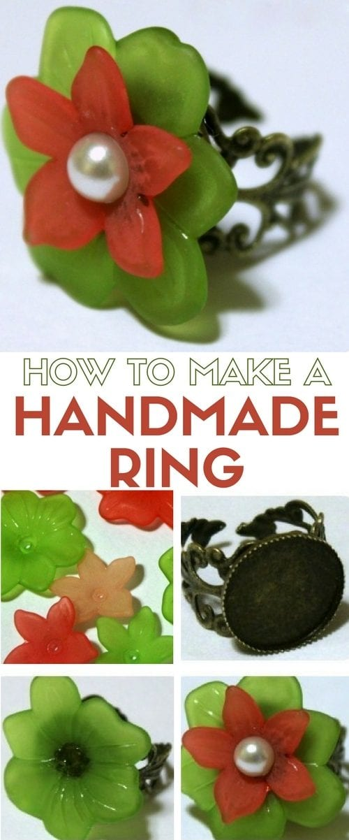 A handmade ring is a perfect way to show off your style. DIY jewelry is fun to make and wear. An easy DIY craft tutorial idea.