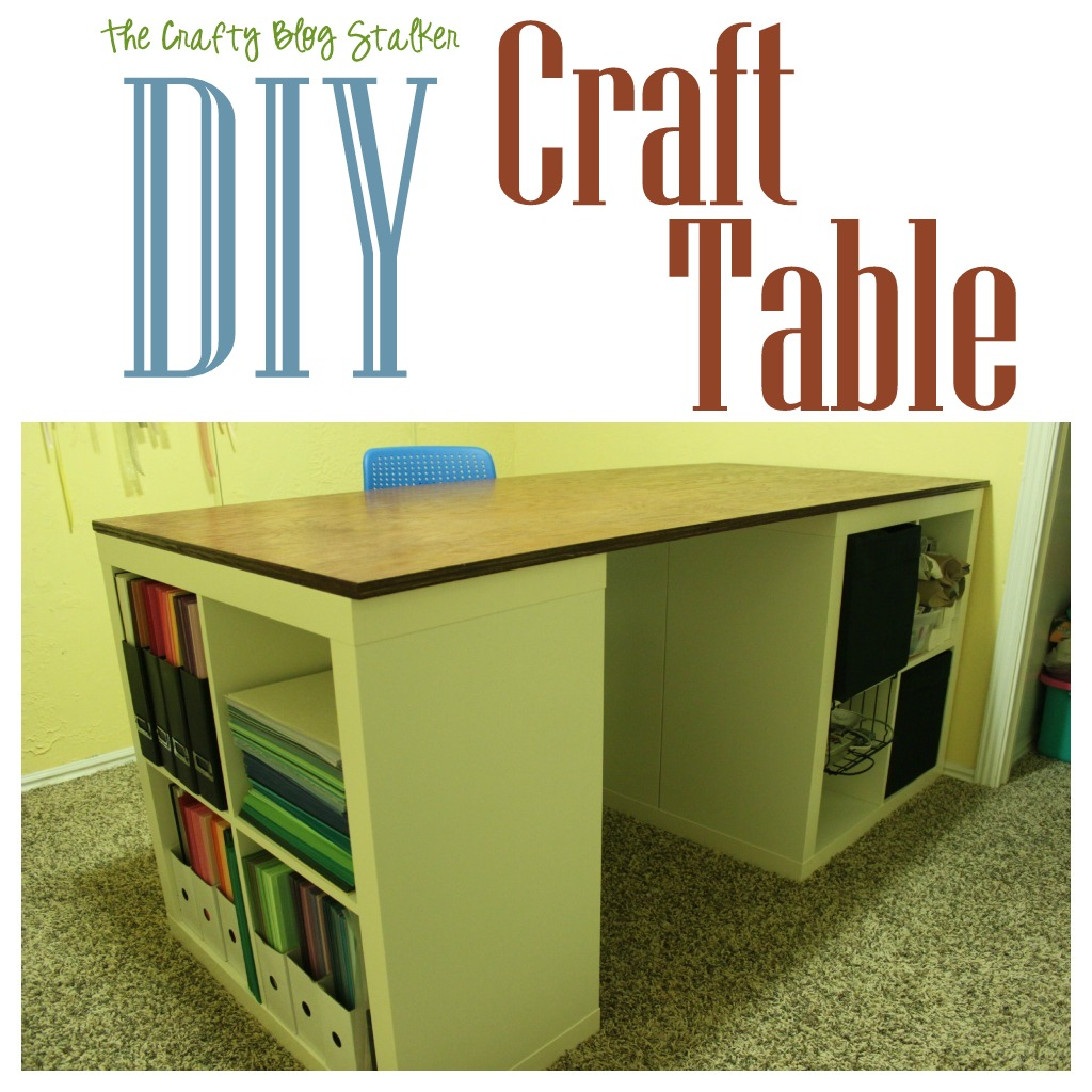 Tutorial make your own custom craft table the crafty for Building a craft room
