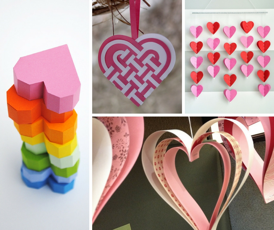 25 easy paper heart projects the crafty blog stalker for Art and craft with paper easy