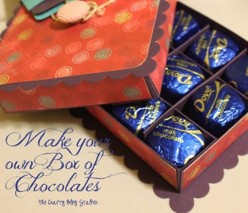 Make a box of chocolates to give as a small thank you gift or teacher gift. An easy DIY craft tutorial idea to make the box and fill with chocolate!