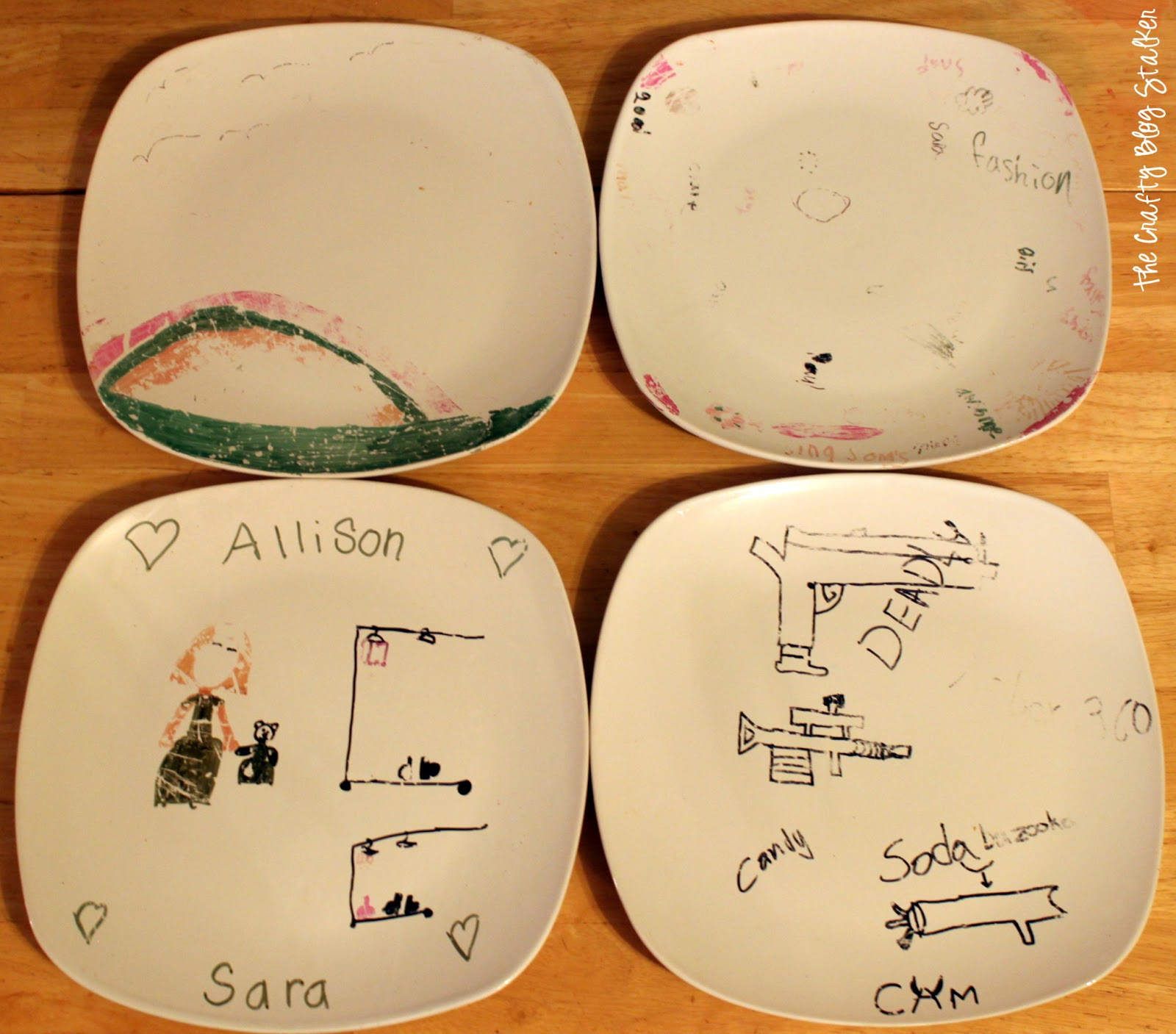 Personalized Ceramic Plates W Sharpies The Crafty Blog