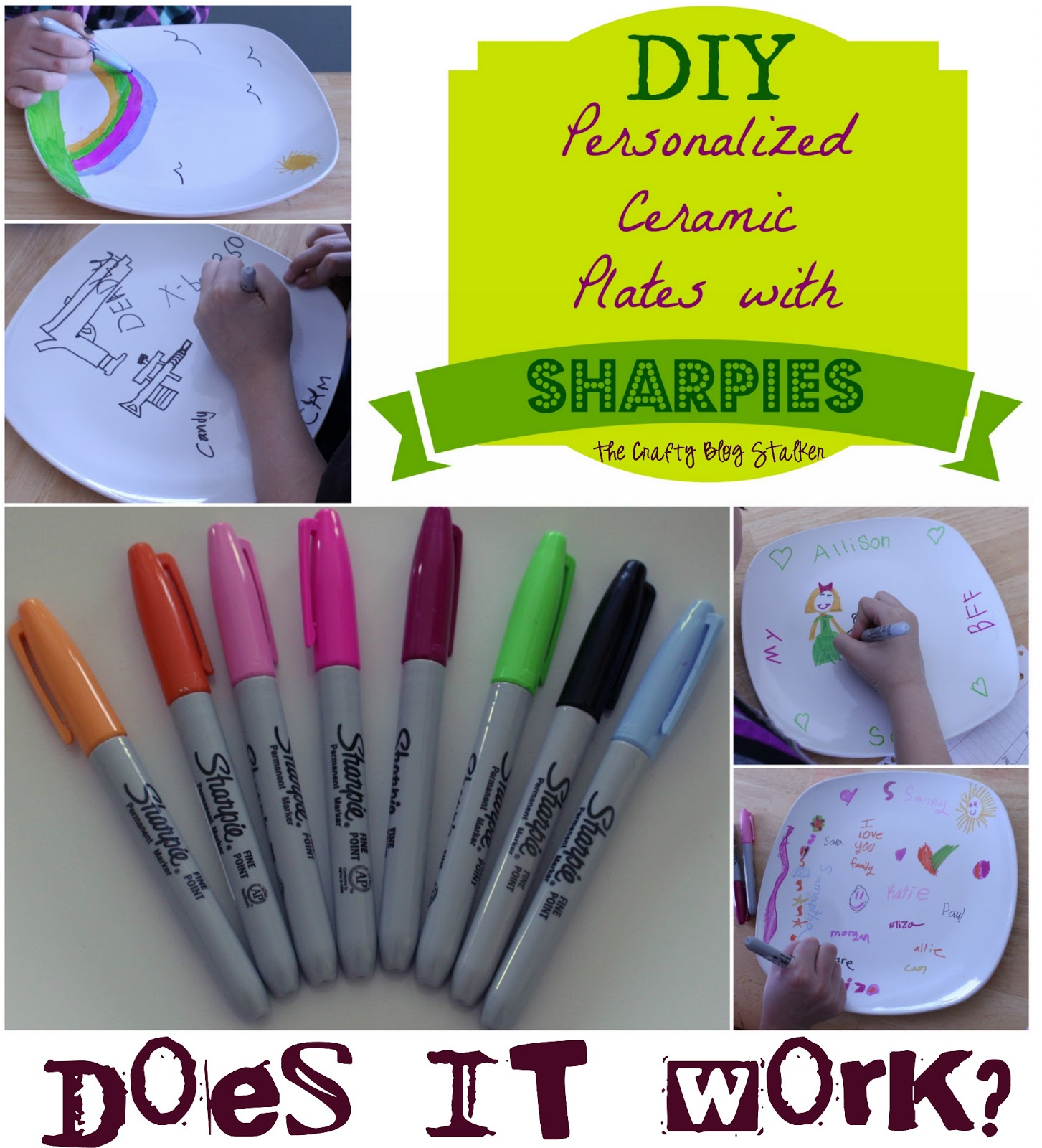 How To Personalize Ceramic Plates W Sharpies The Crafty
