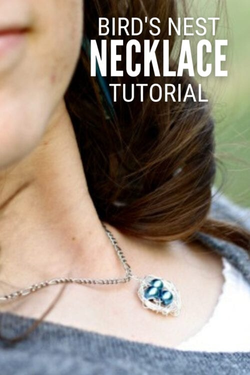 title image for How to Make a Mama Bird Nest Necklace
