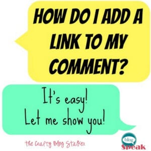 How to Add a Link to your Comment