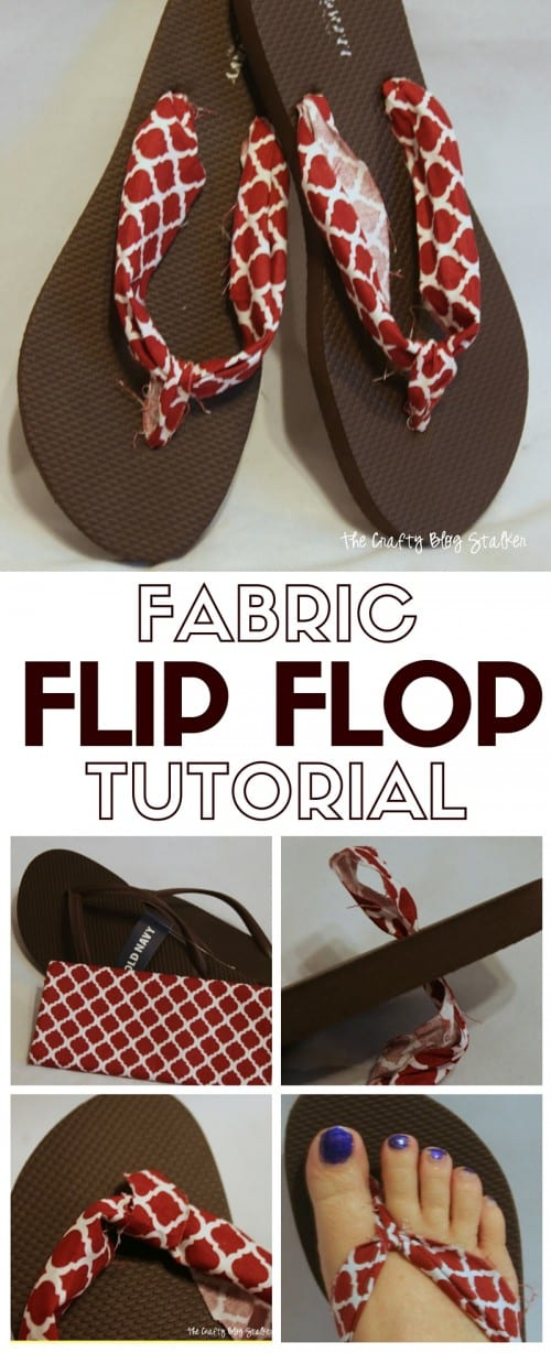 Fabric Flip Flops | Summer | Fashion | Decorated | DIY | Cute Crafts