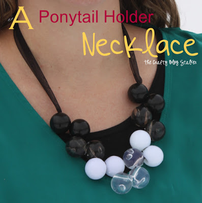 Make your own DIY Jewelry out of ponytail holders. This trendy bauble necklace is handmade and you can make it too. Simple to follow tutorial.