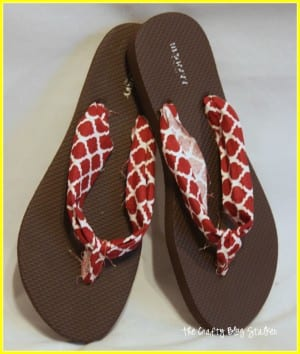 How to Make Fabric Flip Flops