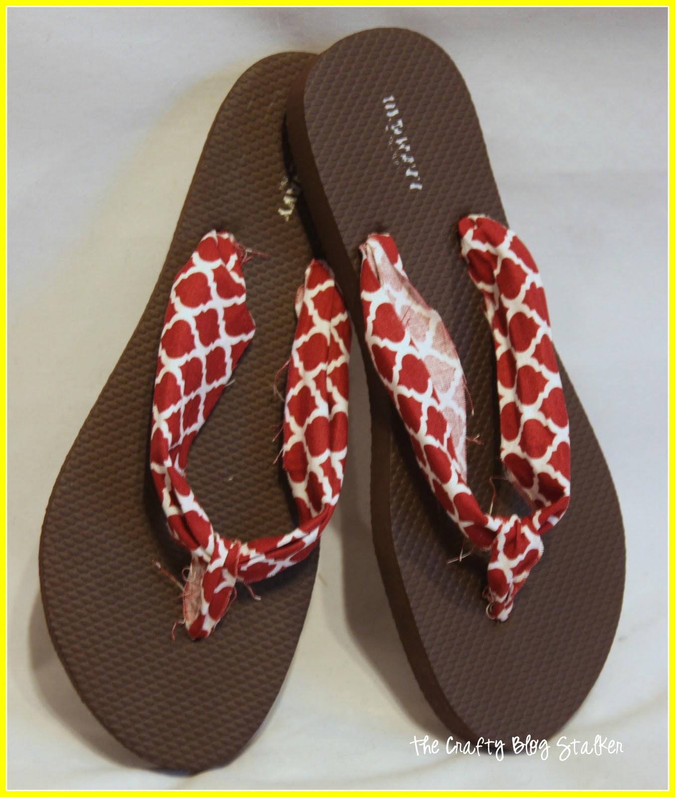 da69a9fa5 How to Make Fabric Flip Flops - The Crafty Blog Stalker