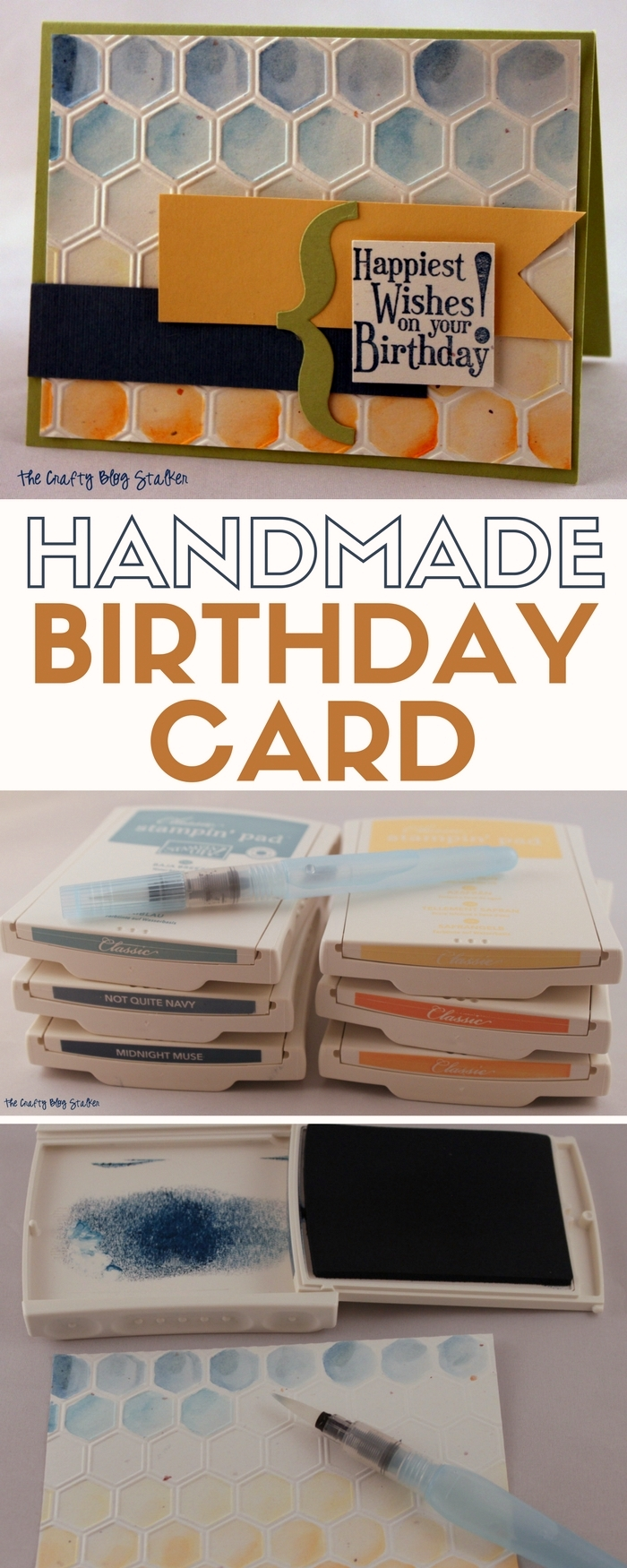 Create a Handmade Birthday Card for your favorite person! An easy DIY craft tutorial idea. Happiest Wishes on your Birthday!