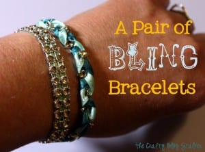 Make a pair of bling bracelets in 30 minutes or less. A fun DIY Jewelry project where you can show off your own style.