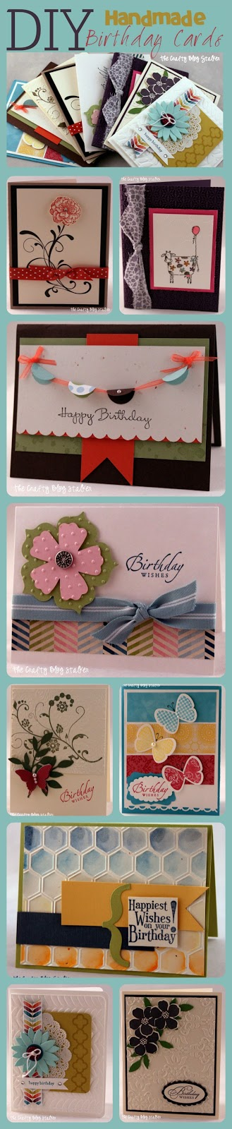 A Collage Of Images With 9 Different Handmade Birthday Cards