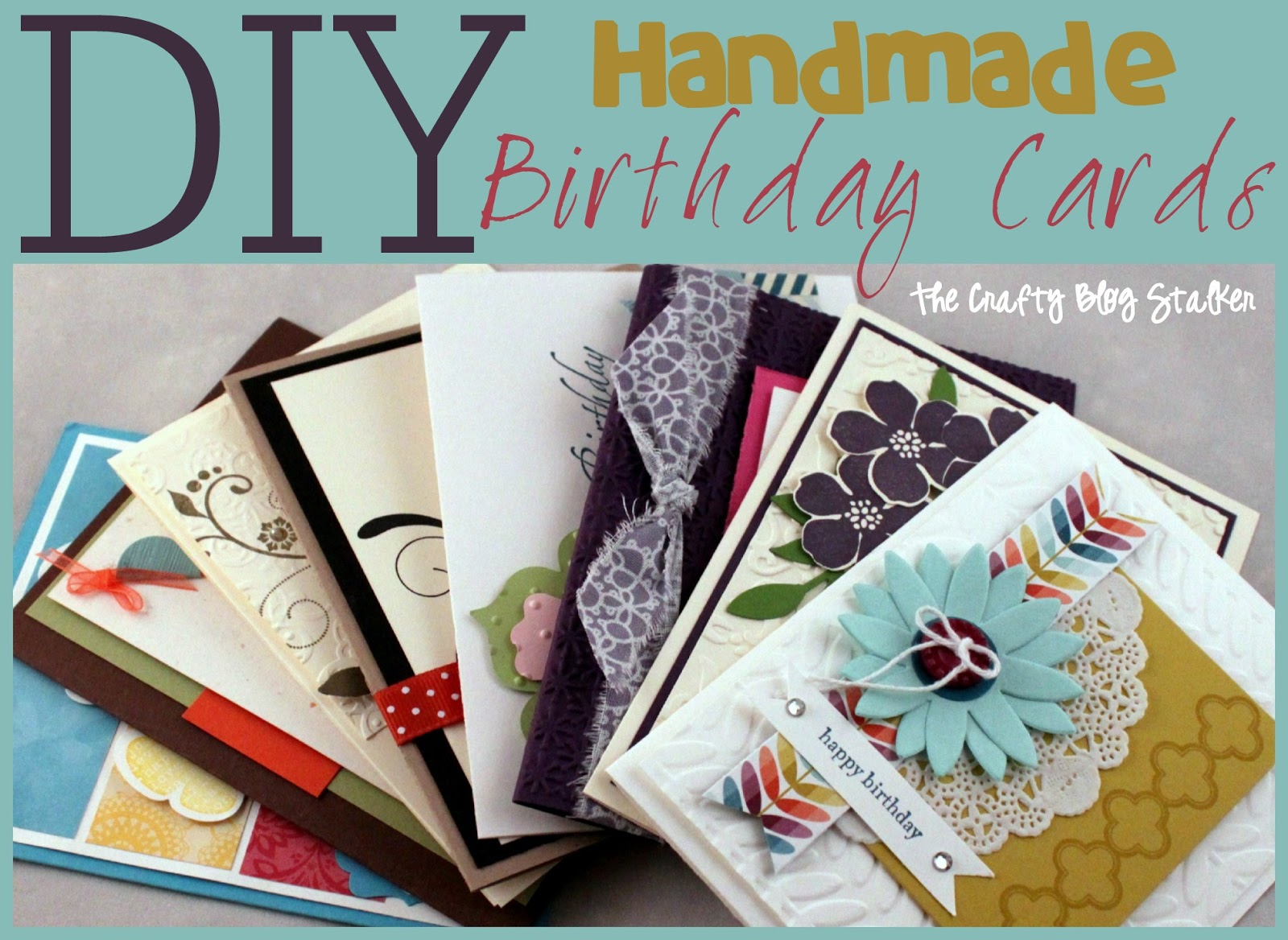 handmade birthday card ideas  the crafty blog stalker, Birthday card